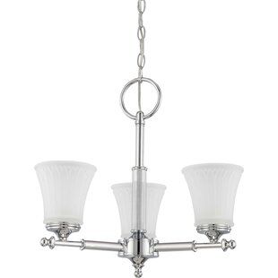 Hinde 3-Light Shaded Chandelier by Charlton Home
