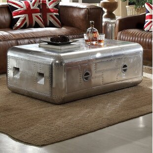 Dunphy Aluminum Coffee Table with Storage
