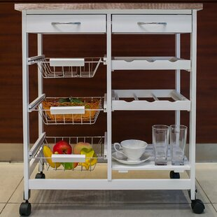 Kitchen Cart with Wood Top Merax
