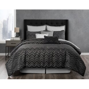 Laundry by Shelli Segal Berkeley Textured Chevron Reversible Comforter Set