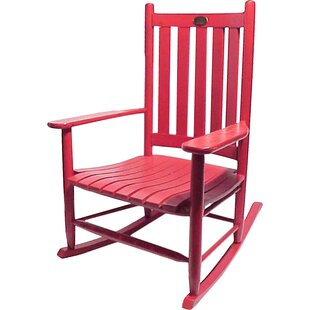 Attirant Outdoor Red Rocking Chair | Wayfair