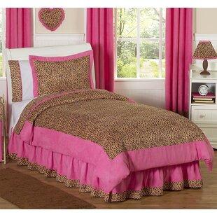Sweet Jojo Designs Cheetah Pink 3 Piece Comforter Set