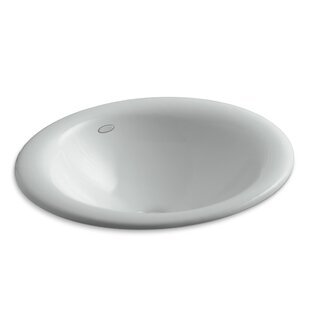 Kohler Iron Bell Metal Oval Drop-In Bathroom Sink