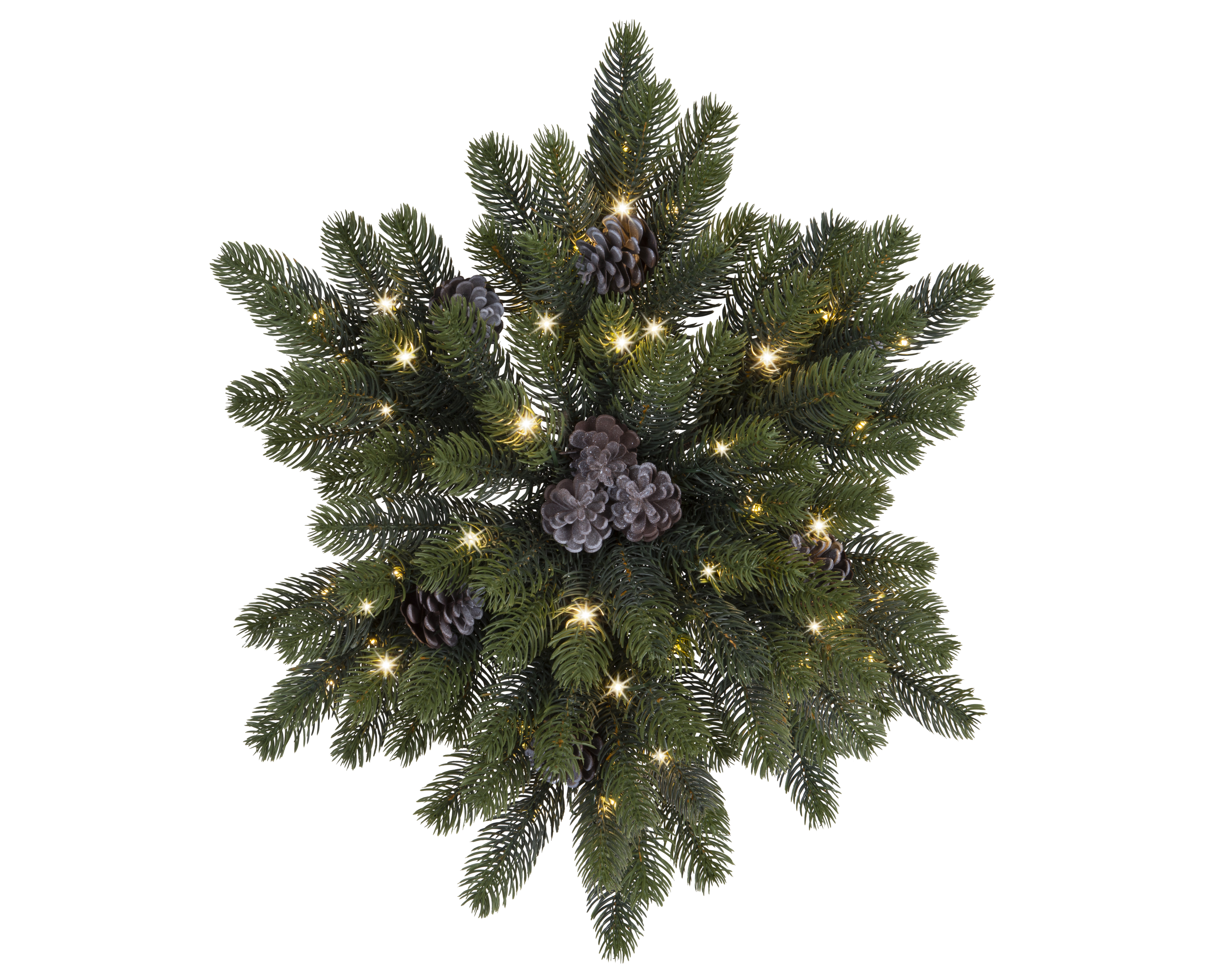 The Holiday Aisle Star Shaped Pinecone Pre Lit Swag With Warm Lights Reviews Wayfair