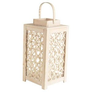 Whitewashed Wood Lantern
