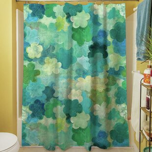 Aqua Bloom Water Blends Single Shower Curtain