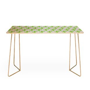 Linocut Cacti Desk by East Urban Home Top Reviews