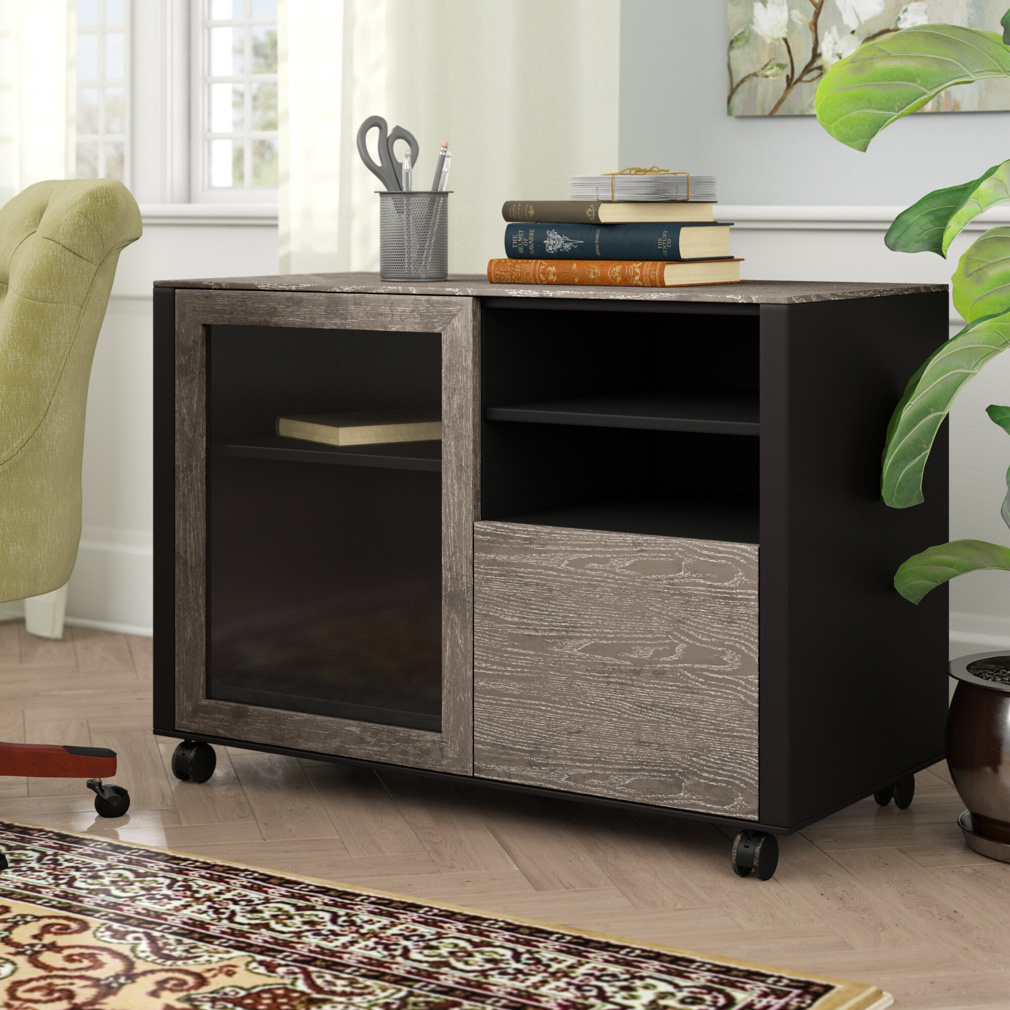 Francella 1 Drawer Lateral Filing Cabinet