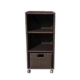 Island Retreat Wheeled Wicker Towel Valet