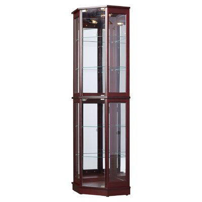 Biali Lighted Corner Curio Cabinet Color: Cherry by Andover Mills