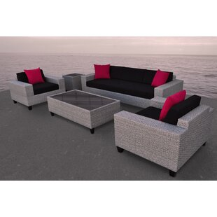 Vizela 5 Piece Rattan Sofa Set with Cushions