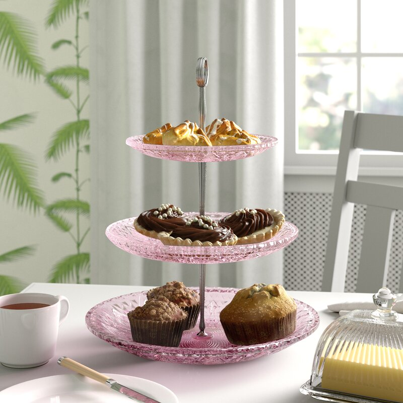 Symple Stuff 3 Tier Gl Cake Stand In