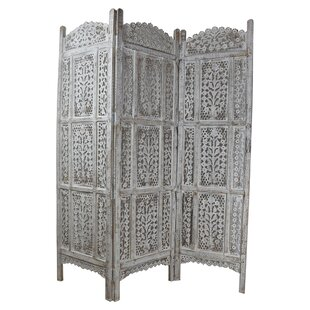 Sely Wooden 3 Panel Room Divider by Bloomsbury Market