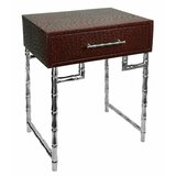 Wood and Metal End Table with Storage by Benjara