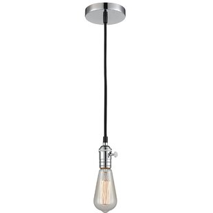Williston Forge Hisle 1-Light Bulb Pendant