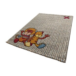 Patchwork Sweetys Woven Beige/Red Rug By Sigikid