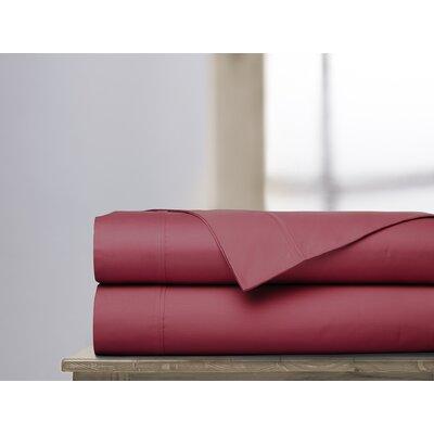 600 Thread Count 100% Cotton Sheet Set Ardor Home Color: Garnet, Size: King