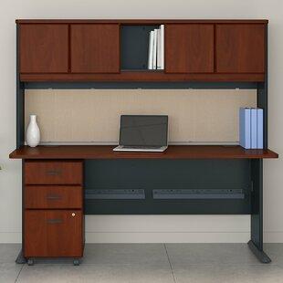 Affordable Series A 3 Piece Desk Office Suite ByBush Business Furniture