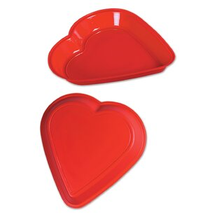 Heart Plastic Serving Tray (Set of 24)