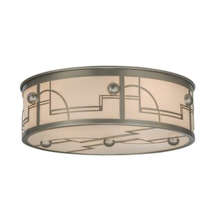 Meyda Tiffany Revival Deco 4-Light Flush Mount