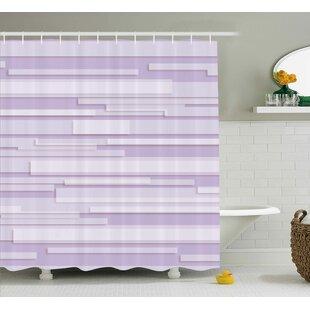 Enrique Stone Band Motif Shower Curtain + Hooks