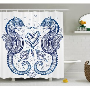 Roxanna Seahorse Valentines Single Shower Curtain