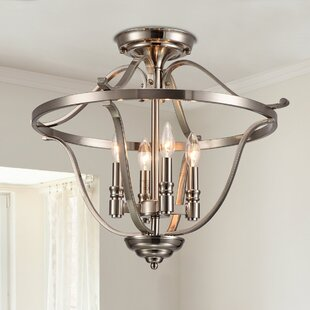 Danger 4-Light Semi Flush Mount by Alcott Hill
