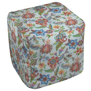 Shangri La Floral Ottoman by Manual Woodworkers & Weavers
