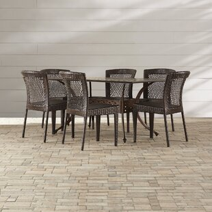 Tondreau 7 Piece Outdoor Dining Set by Bu..