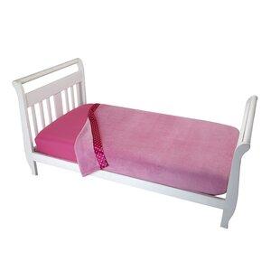 Searching for Keya Solid Pink Toddler Coral Blanket ByHarriet Bee