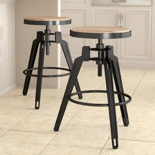 Laurel Foundry Modern Farmhouse Arda Swivel Bar Stool (Set of 2)