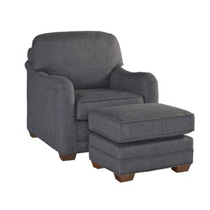 Stationary Armchair and Ottoman by Home Styles