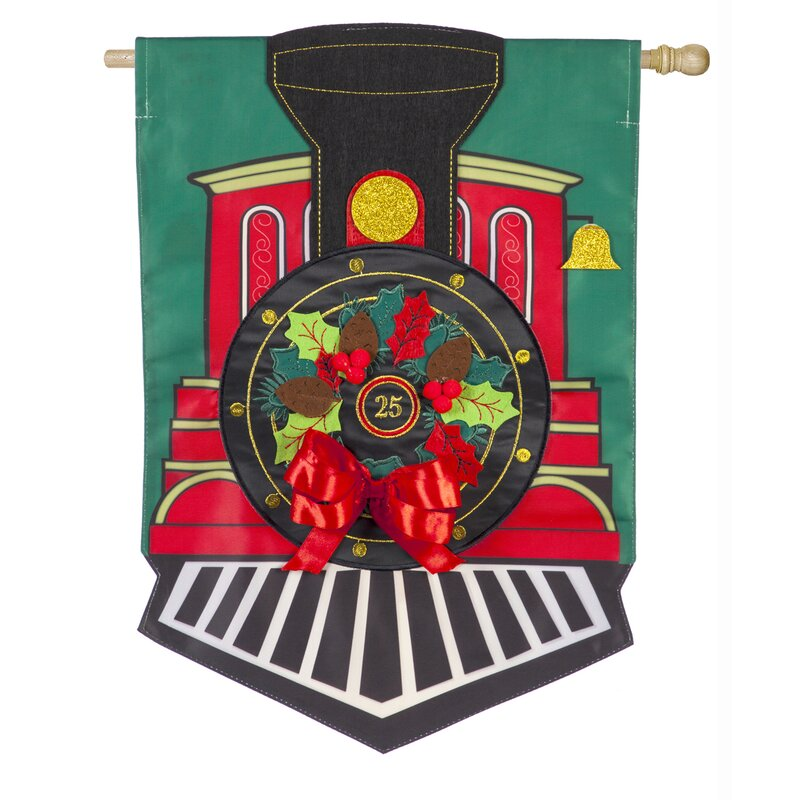 Evergreen Flag Garden Train House 2 Sided Polyester 44 X 28 In House Flag Wayfair