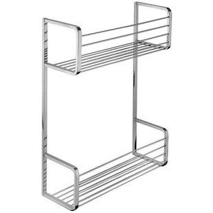 Symple Stuff Koehler Wall Mount Shower Caddy Double Shelf Organizer