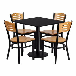 Princeton 5 Piece Dining Set Red Barrel Studio