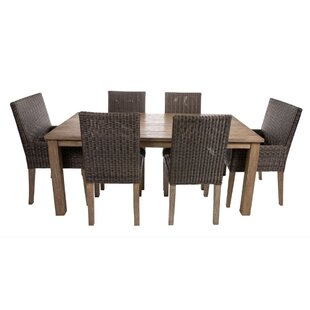 Malloy 7 Piece Teak Dining Set