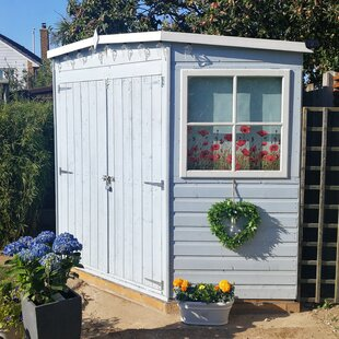8 Ft. W X 8 Ft. D Shiplap Pent Wooden Shed By Sol 72 Outdoor