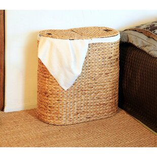 The Twillery Co. Oval Double Wicker Laundry Hamper