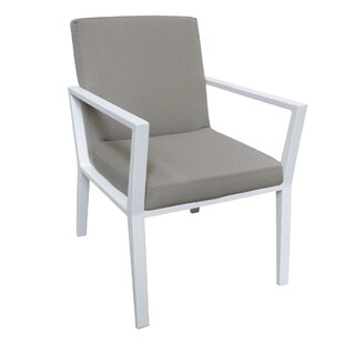 Thelonius Patio Dining Chair with Cushion (Set of 2)