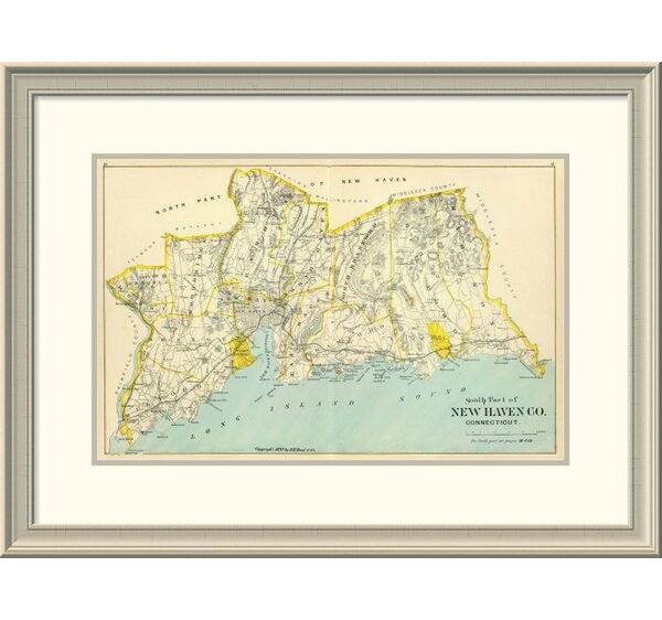 East Urban Home Connecticut New Haven County South 1893 Framed Print Wayfair