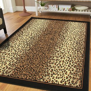 Prejean Cheetah Animal Print Leopard Brown Indoor/Outdoor Area Rug
