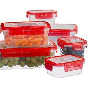 Basics Plastic 6 Container Food Storage Set