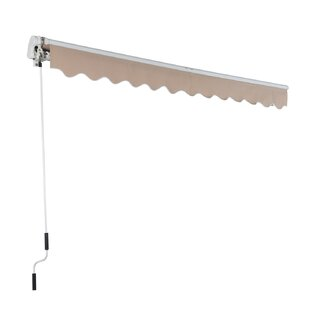 Outsunny 10 ft. W x 8 ft. D Retractable Patio Awning
