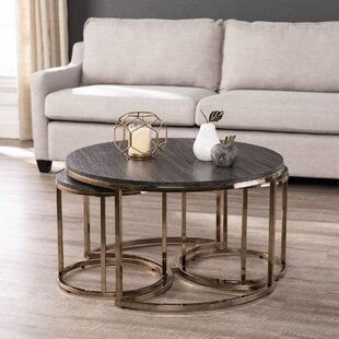 Sleaford 3 Piece Nesting Tables by Everly..