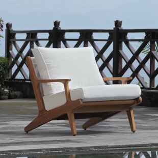 Berube Teak Patio Chair with Cushions