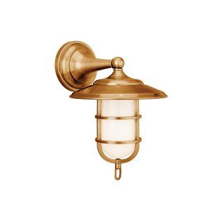 Reviews Devere 1-Light Outdoor Sconce By Bloomsbury Market