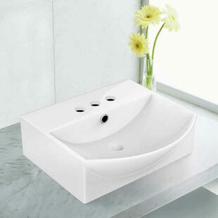 Reviews Ceramic 15.75 Bathroom Sink with Overflow By Royal Purple Bath Kitchen