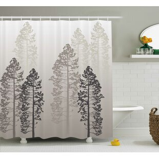 Fall Tree Decor Woven Single Shower Curtain by East Urban Home Best #1