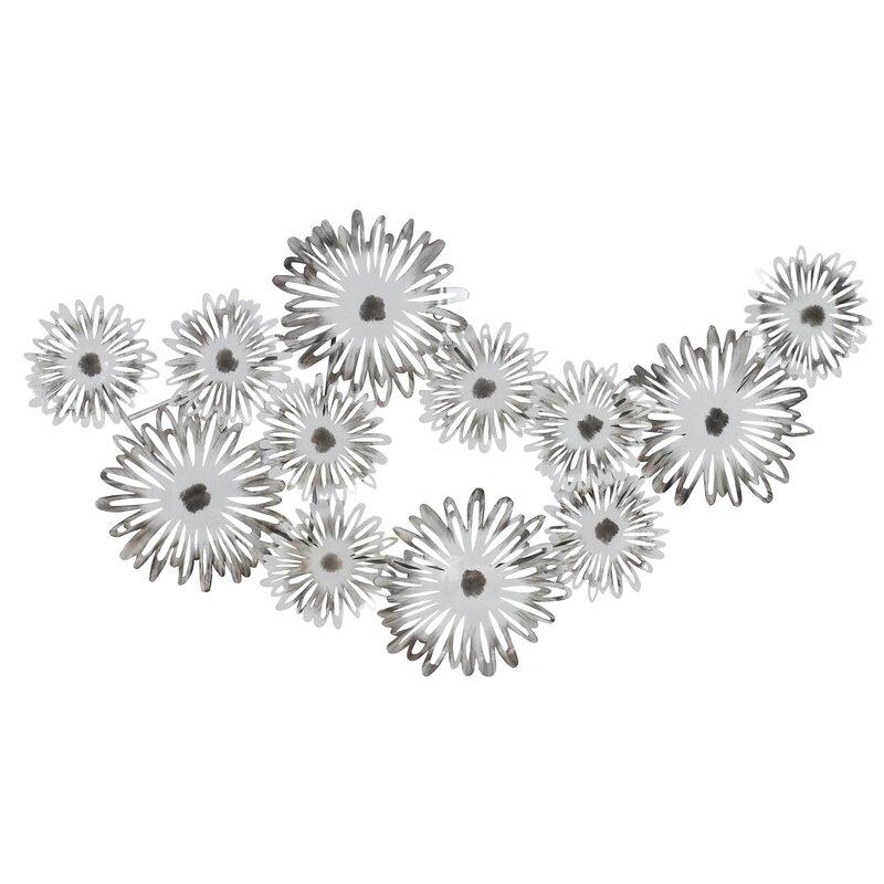 Latitude Run Metal Flowers Wall Décor | Wayfair
