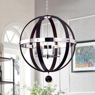 Cage chandelier wayfair nisa 6 light chandelier aloadofball Gallery